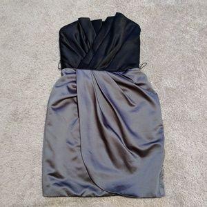 Vera Wang White Strapless Mini Dress Size 2 EUC